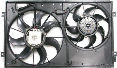 Skoda Octavia II hűtőmotorok tartóval